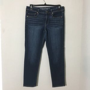 American Eagle Mid Rise Super Skinny Jeans Sz 12